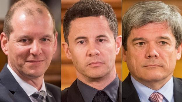 Drei Kandidaten für die Obwaldner Regierung.