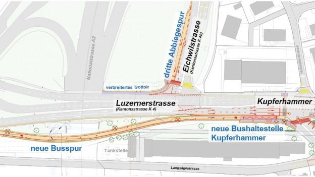 So soll die neue Buslinie gebaut werden.