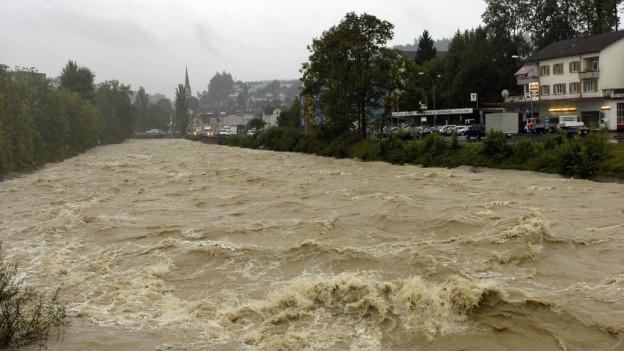 Hochwasser in Emmen.