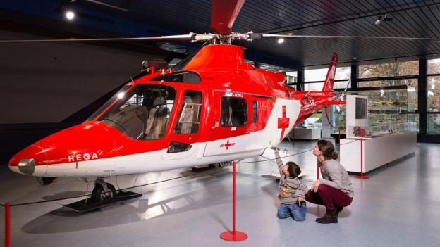 Flugzeugmodell im Verkehrshaus