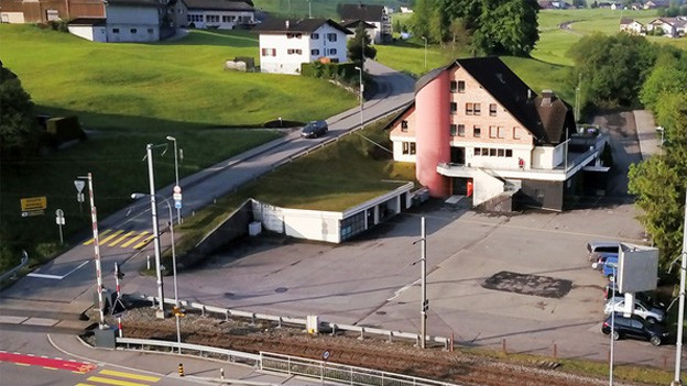 Ansicht der Liegenschaft Biberhof in Biberbrugg