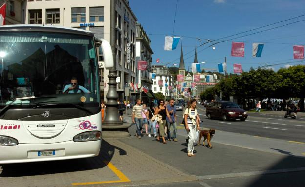 Der Luzerner Stadtrat will die Reisecars auf der Allmend.