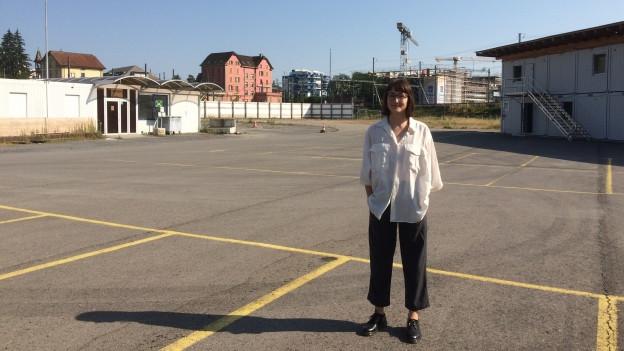 Francesca Blachnik vom Verein Platzhalter, der die Zwischennutzung organisiert.