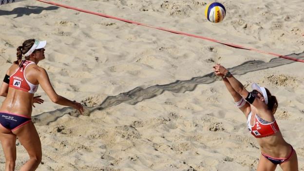 Müssen in die Sechzehntelfinals: Tanja Hüberli und Nina Betschart.
