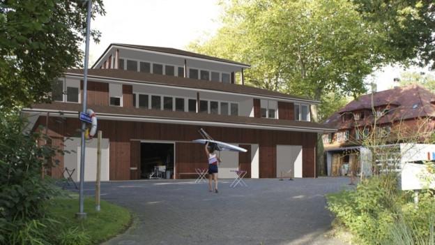 Visualisierung des Zentrums des Seeclubs Luzern.