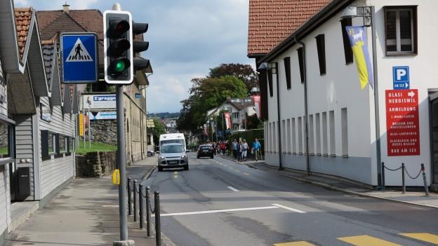 Blick auf das Dorf Hergiswil