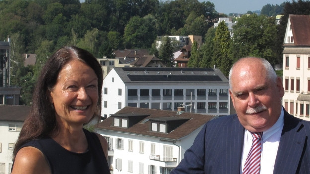 Treten auf Ende August aus dem Emmer Gemeinderat zurück: Susanne Truttmann (SP) und Urs Dickerhof (SVP).