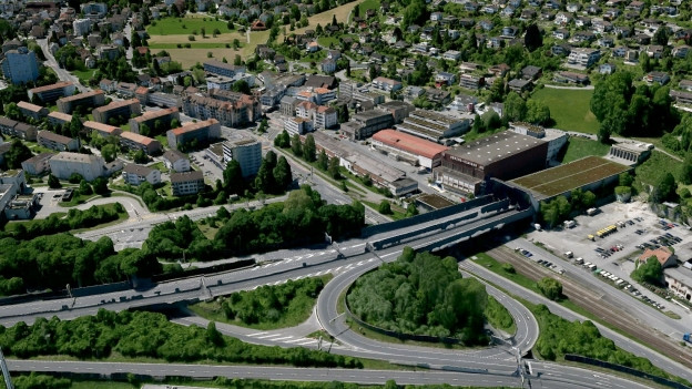 Visualisierung, wie das Südportal des Sonnenbergtunnels nach dem Ausbau aussehen könnte.
