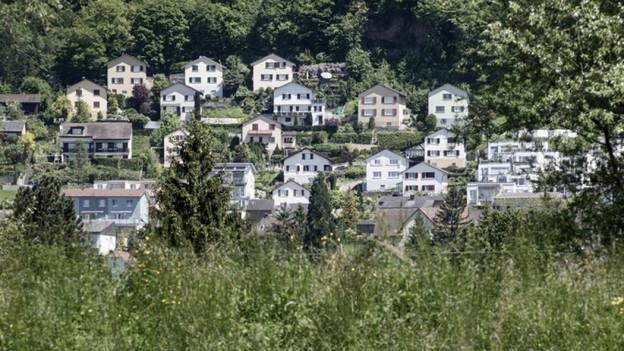 Einfamilienhäuser auf dem Land