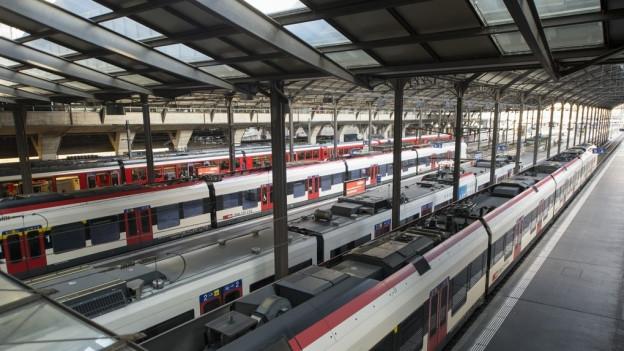 Bahnhof Luzern nach der Entgleisung