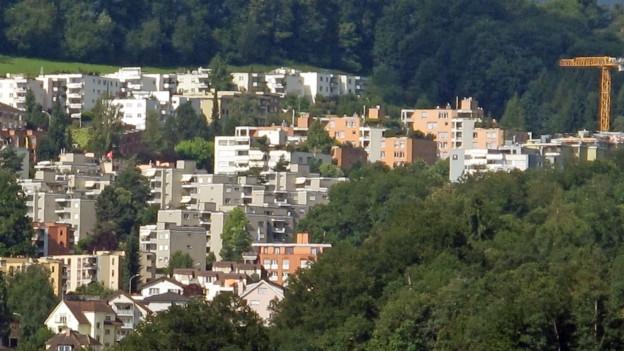 Blick auf das Obergütsch-Quartier in Luzern.