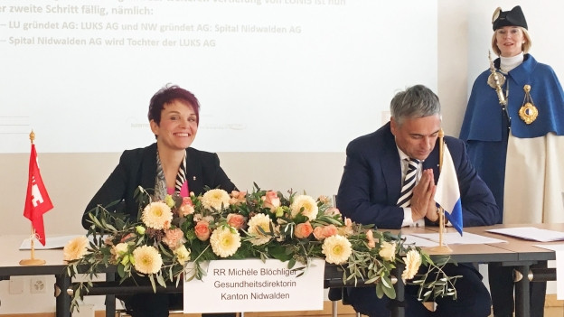Unterzeichnung Spitalvertrag zwischen Nidwalden und Luzern.