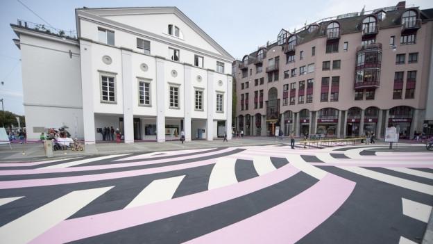 Aussenansicht des Luzerner Theatergebäudes.