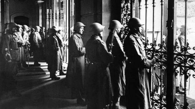 Auch in Luzern marschierte die Armee während des Landesstreiks auf.