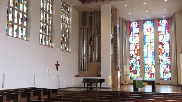Blick in die Lukaskirche Luzern.