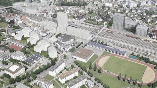 Die Gemeinde Risch plant zusammen mit der SBB aktuell die Neugestaltung des westlichen Teils des Bahnhofs-Areals. In einer zweiten Etappe soll auch der östliche Teil entwickelt werden.