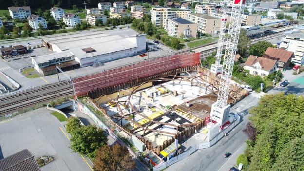 Mitten im Zentrum von Ebikon entsteht das Mehrfamilienhaus Riedmatt.