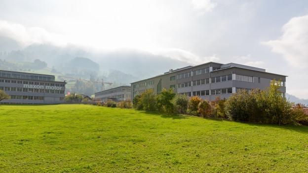 Gebäude und Wiese