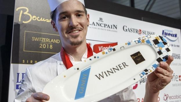 Koch Mario Garcia gewann im Januar 2018 den «Bocuse d'Or Suisse».