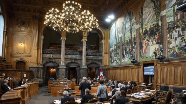 Das Wahlkarussell beginnt sich zu drehen: Blick in den Plenarsaal des Ständerats.