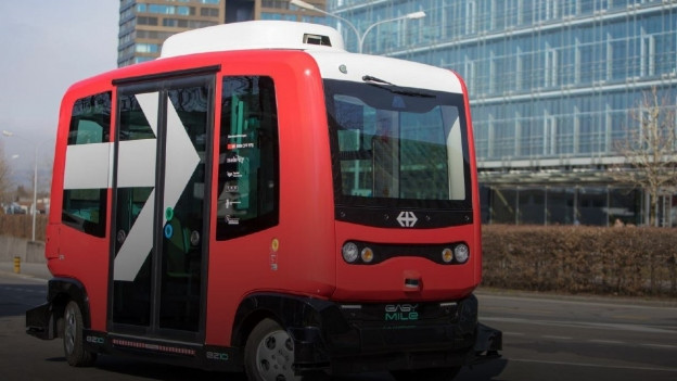 «Myshuttle» - der selbstfahrende Bus in Zug.