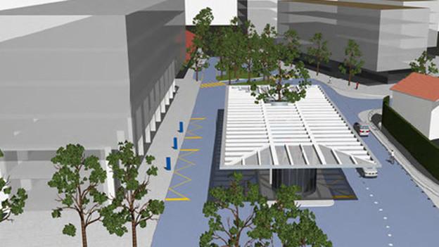 Visualisierung des neuen Kantonbahnhofs Altdorf