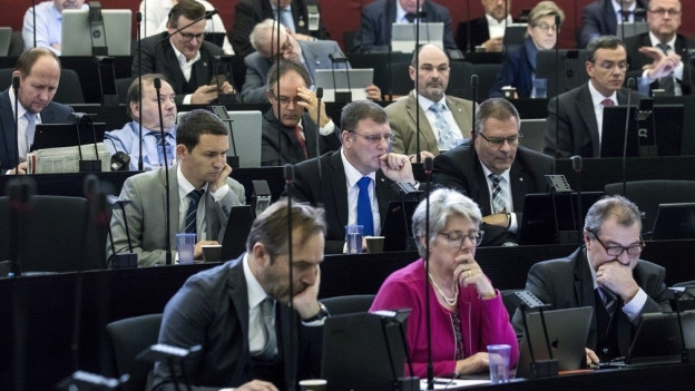 Das Luzerner Kantonsparlament bei der Steuerdebatte