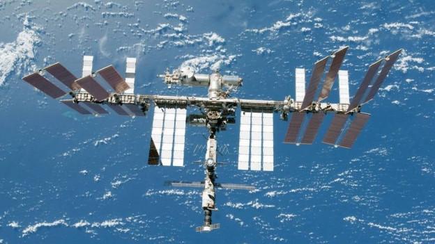 Blick auf die ISS