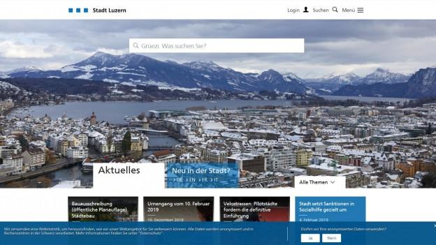 Die Stadt Luzern will bei den digitalen Angeboten wegweisend sein.