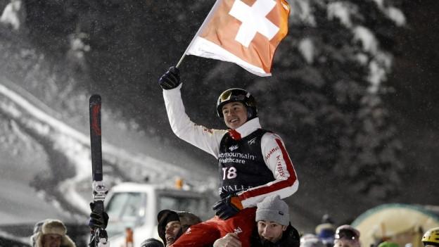 Noé Roth nach seinem Bronze-Triumph an der WM.
