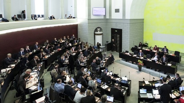 Der Saal des Luzerner Kantonsparlaments