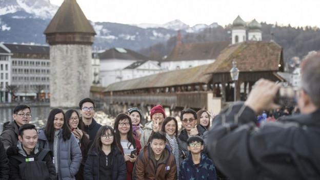 Die Stadt Luzern weist für das letzte Jahr rekordhohe Übernachtungszahlen auf.