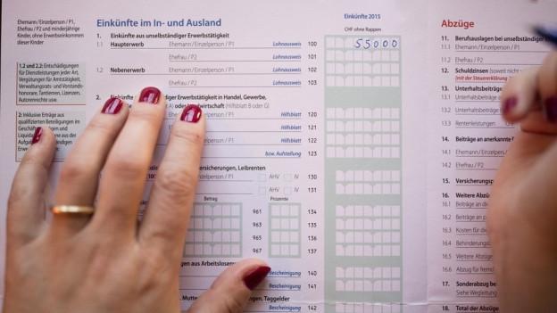 Das Wirrwarr um die Prämienverbilling hat keine Auswirkungen auf die Steuererklärung.