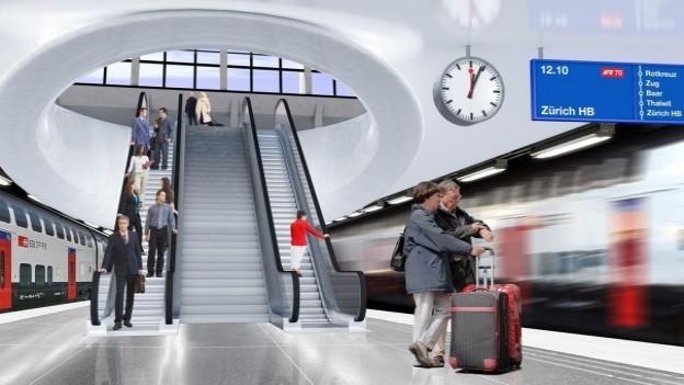 Visualisierung des Luzerner Durchgangsbahnhofs.