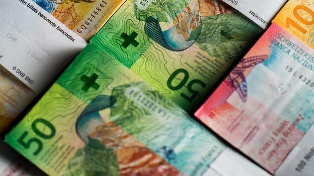 Geldscheine gebündelt