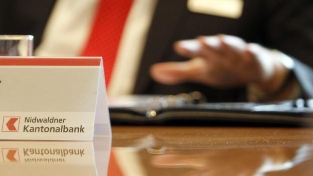 Schild der Nidwaldner Kantonalbank