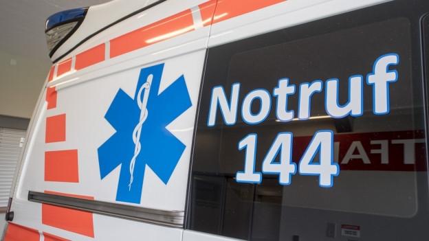 Ein Ambulanzfahrzeug.