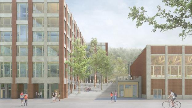 Die neue Kantonsschule wird das teuerste Hochbauprojekte des Kantons Schwyz.