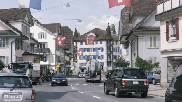 Der Dorfkern von Schüpfheim im Entlebuch.