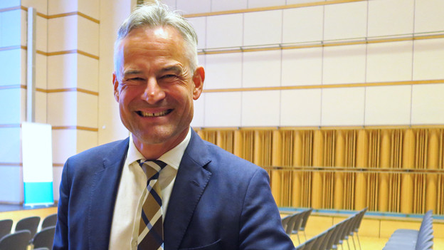 Porträt von Matthias Michel, ehemaliger Regierungsrat des Kantons Zug.