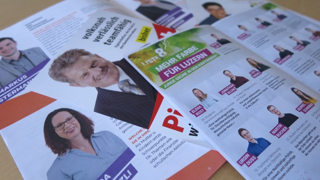 Viel und sehr unterschiedliche Wahlwerbung landete in den Briefkästen.
