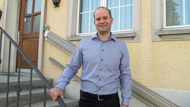 Von Inwil ins Regierungsgebäude: Der neu gewählte Fabian Peter freut sich auf seine neue Aufgabe.