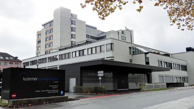 Ansicht des heutigen Kantonsspitals Sursee.