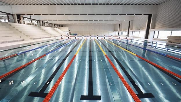 So gross wie kein anderes in der Zentralschweiz: Das 50-Meter-Becken im Campus Sursee.