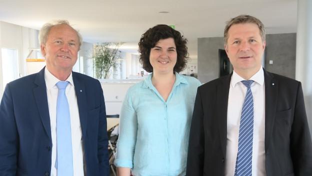 Paul Winiker, Korintha Bärtsch, Marcel Schwerzmann (vlnr)