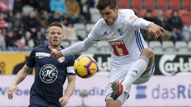 FCL-Spieler Pascal Schürpf im Spiel gegen den FC Thun.