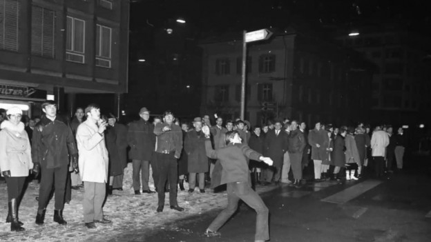 Die Krawallnacht im Januar 1969 in der Stadt Luzern.