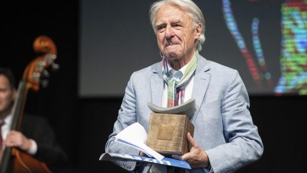 Ein «Jahrhundertkünstler»: Emil Steinberger an der Verleihung des Anerkennungspreises des Kantons Luzern.