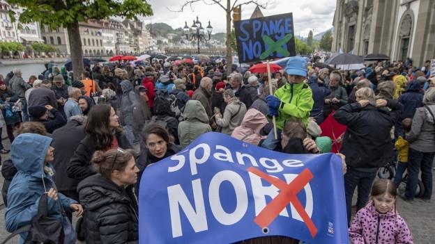 Protest gegen die Spange Nord.