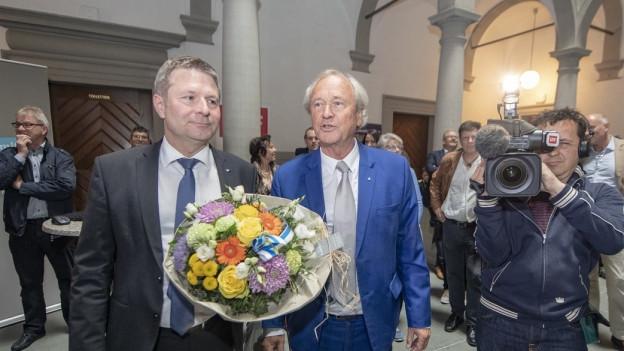 Die bisherigen Regierungsräte Schwerzmann und Winiker können aufatmen.